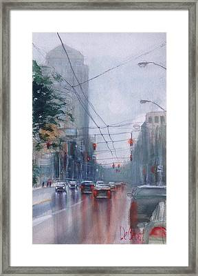 A Rainy Day In Dayton Framed Print