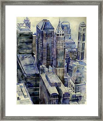 Rainy Day In Gotham Framed Print