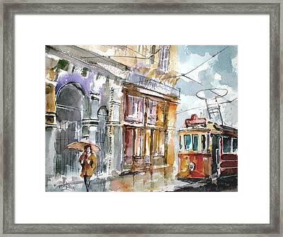 A Rainy Day In Istanbul Framed Print by Faruk Koksal