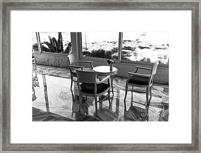 A Rainy Day In Mykonos Framed Print by John Rizzuto