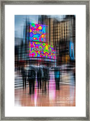 A Rainy Day In New York Framed Print by Hannes Cmarits