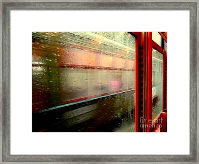 New Orleans Rainy Day Ride On The St. Charles Avenue Street Car In Louisiana Framed Print