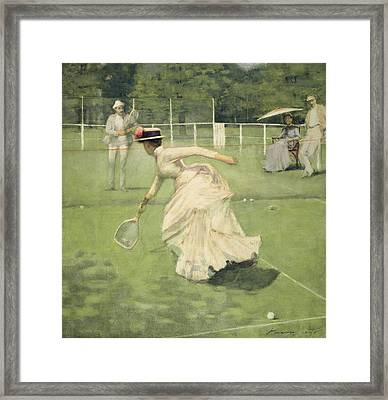 A Rally, 1885 Framed Print