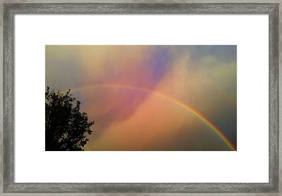 Framed Print featuring the photograph A Ranbow by Chris Tarpening