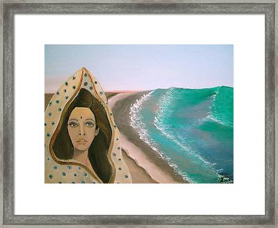 Framed Print featuring the painting A Rani's Paradise by Saad Hasnain