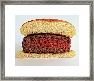 A Rare Hamburger Framed Print by Romulo Yanes