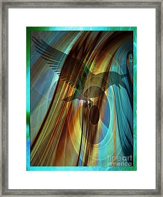 A Raven's Eye Framed Print