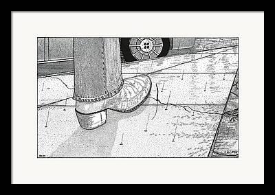 Shadow Metaphoric Framed Prints