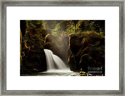 A Ray Of Light Framed Print by Chris Heitstuman