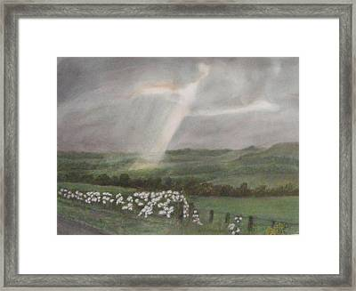 A Ray Of Light On A Stormy Day Framed Print