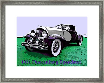 A Real Duesey Framed Print by George Pedro