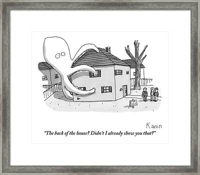 A Real Estate Agent Tries To Hide From Potential Framed Print