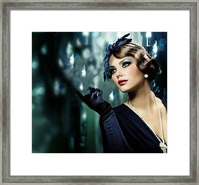 Framed Print featuring the digital art A Real Lady by Karen Showell