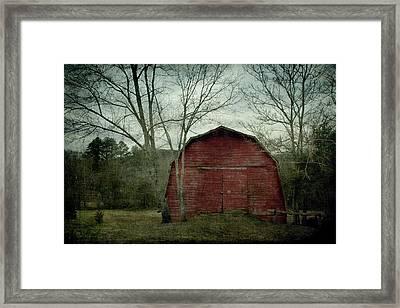 A Red Barn Framed Print