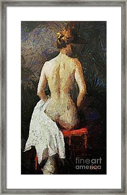 A Red Chair Framed Print by Dragica  Micki Fortuna