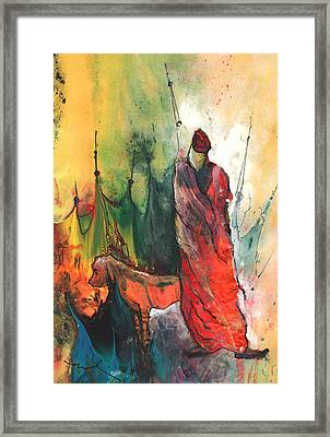 A Red Dog In Morocco Framed Print by Miki De Goodaboom