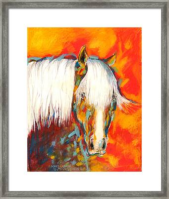 A Red Hot Head Framed Print
