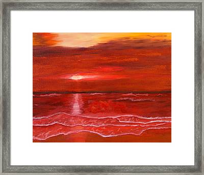 A Red Sunset Framed Print