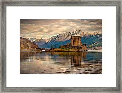 A Reflection At Eilean Donan Castle Framed Print