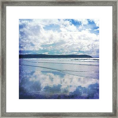 A #reflection In Time Forever Changing Framed Print