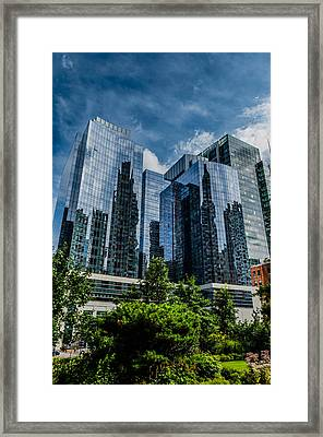 A Reflection Of Boston Framed Print