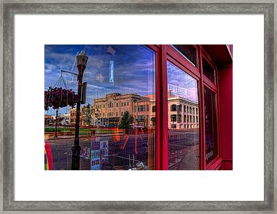 A Reflection Of Wausau's Grand Theater Framed Print by Dale Kauzlaric