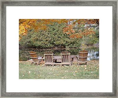 Relax For A Moment  Framed Print by Brenda Brown