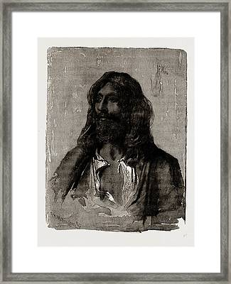 A Religious Mendicant Framed Print by Litz Collection