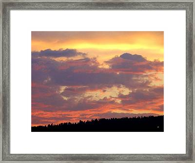 A Remarkable Sky Framed Print