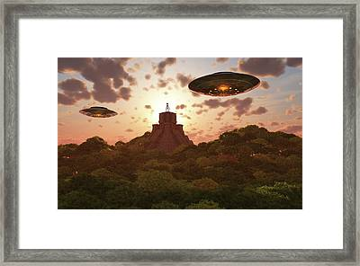 A Remote Temple Hidden In The Jungles Framed Print