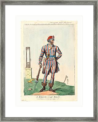 A Republican Beau, A Picture Of Paris For 1794, Cruikshank Framed Print by English School