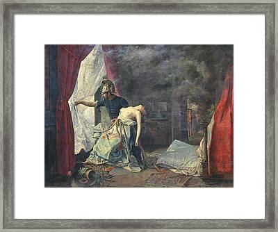 A Rescue In Paris, 1886 Oil On Canvas Framed Print by Eugenio Alvarez Dumont