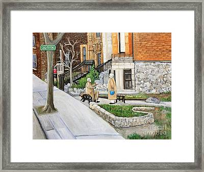 A Rest On Summerhill Avenue Framed Print by Reb Frost