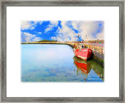 A Resting Boat Howth Ireland Framed Print by Jo Collins