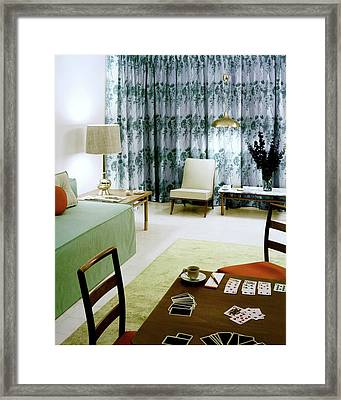 A Retro Bedroom Framed Print by Haanel Cassidy