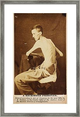 A Richmond Prisoner In American Civil War Framed Print by Celestial Images