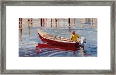 A Ride For Keno Framed Print by Laura Lee Zanghetti