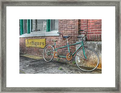 A Ride For Two Framed Print by Lynn Jordan