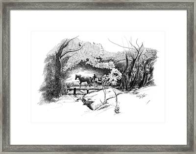 A Ride Through Central Park Framed Print