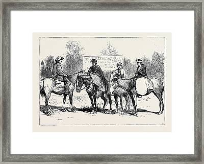 A Riding Party In British Columbia Framed Print