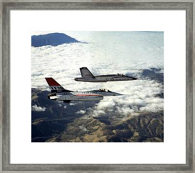 A Right Side View Of A Yf-16 Framed Print