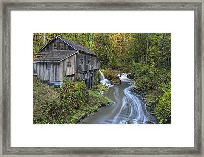 A River Flows Through It Framed Print by David Gn