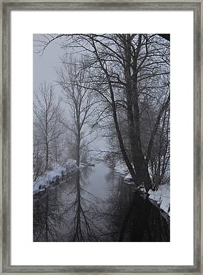 A River In March Framed Print by BandC  Photography