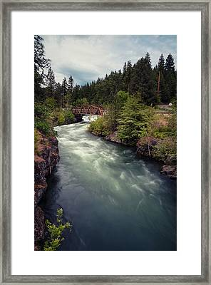 Framed Print featuring the photograph A River Runs Through It by Brian Bonham