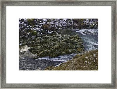 Framed Print featuring the photograph A River Runs Through It by Sherri Meyer