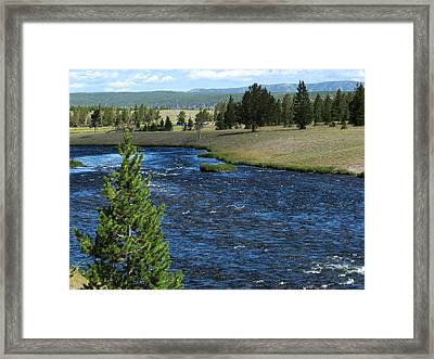 Framed Print featuring the photograph A River Runs Through Yellowstone by Laurel Powell