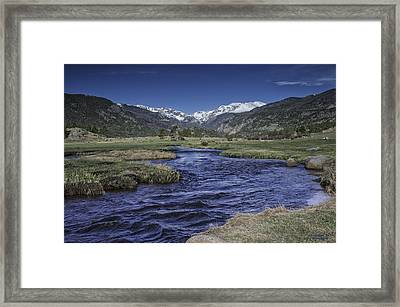A River Runs Thru It Framed Print by Tom Wilbert