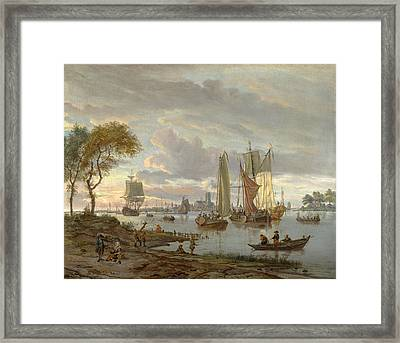 A River View Framed Print