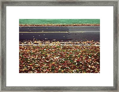 Road In Autumn Framed Print by Kellice Swaggerty