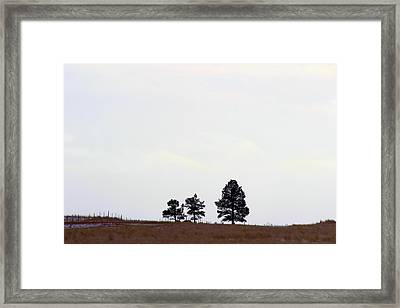 A Road Runs By It Framed Print